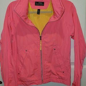 Bright pink/ yellow jacket Ralph Lauren